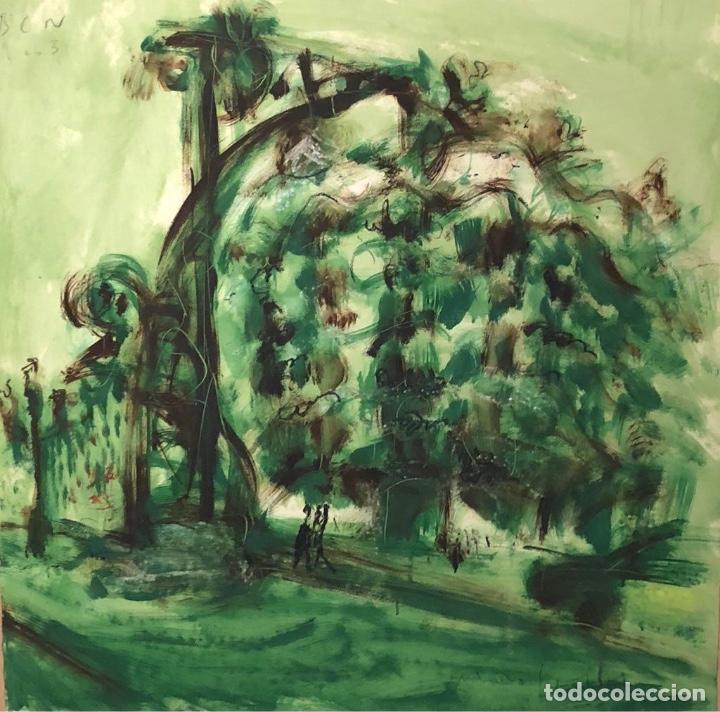 TÉCNICA MIXTA SOBRE PAPEL - MONTESOL - FIRMADA (Arte - Dibujos - Contemporáneos siglo XX)