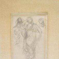 Arte: ELISEU MEIFRÉN (1859-1940), ESBOZOS HOMBRES Y PAISAJE, DIBUJOS PREPARATORIOS A LÁPIZ. 25,5X34,5CM. Lote 122079859