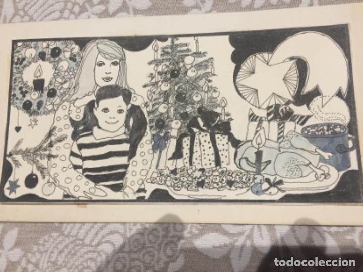 NAVIDAD,BOADA, PEDRO, ILUSTRACIÓN ORIGINAL 1972 (Arte - Dibujos - Contemporáneos siglo XX)