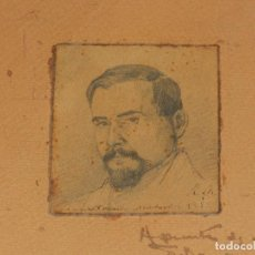 Arte: (M) DIBUJO DE RAMON MARTI ALSINA - RETRATO DE NARCISO MONTURIOL ( PIONERO NAVEGACION SUBMARINA ). Lote 122453331