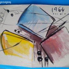 Arte: DIBUJO 1964 AUTOR DESCONOCIDO TÉCNICA MIXTA. Lote 122602739