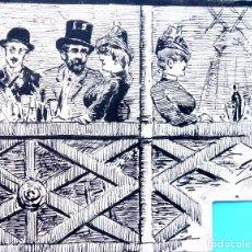 Arte: DIBUJO ORIGINAL A TINTA,SIGLO XIX SANTIAGO RUSIÑOL Y TOLOUSE LAUTREC,AÑO 1880,EDITADO EN BARCELONA. Lote 122737991