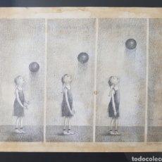 Arte: TETE VARGAS MACHUCA, PRECIOSO Y MAGNIFICO DIBUJO A LAPIZ, FIRMADO.. Lote 122757768