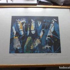 Arte: DIBUJO DE VARIOS CABALLOS - MUHADIN ISMAILOVICH KISHEV - 2002. Lote 122764039
