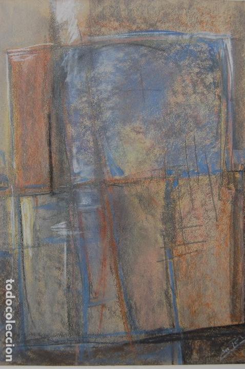 Arte: Firma sin identificar.Interesante dibujo sobre papel de 31x44 Técnica mixta cera y pastel. Perfecto. - Foto 2 - 122903671