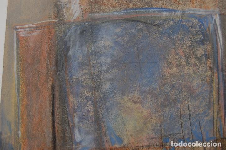 Arte: Firma sin identificar.Interesante dibujo sobre papel de 31x44 Técnica mixta cera y pastel. Perfecto. - Foto 3 - 122903671