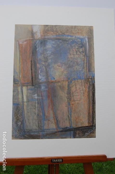 Arte: Firma sin identificar.Interesante dibujo sobre papel de 31x44 Técnica mixta cera y pastel. Perfecto. - Foto 6 - 122903671