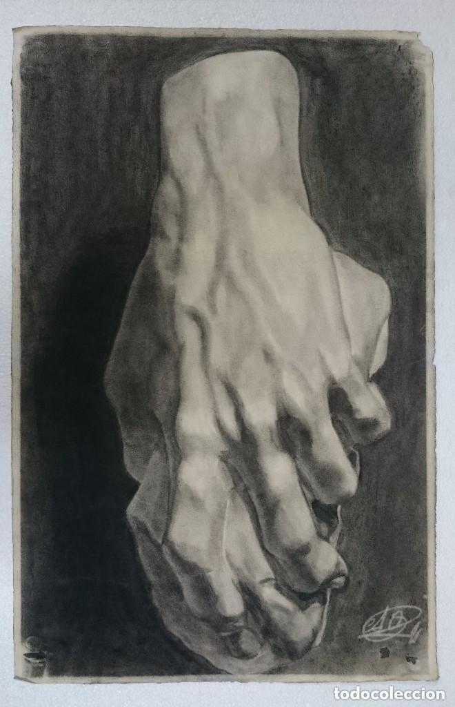 DIBUJO DE MANO DE ESCULTURA CLÁSICA .PINTADO AL CARBONCILLO. DIBUJO S (Arte - Dibujos - Contemporáneos siglo XX)