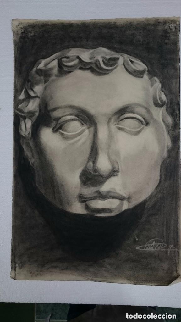 DIBUJO DE BUSTO O ROSTRO MASCULINO . DIBUJO SO (Arte - Dibujos - Contemporáneos siglo XX)