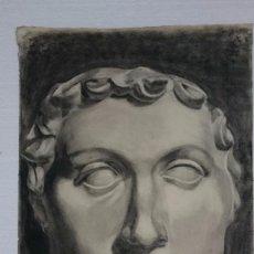 Arte: DIBUJO DE BUSTO O ROSTRO MASCULINO . DIBUJO SO. Lote 122968031