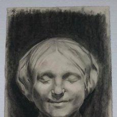 Arte: DIBUJO DE RETRATO FEMENINO.PINTADO AL CARBONCILLO,. Lote 123288335