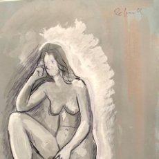 Arte: TÉCNICA MIXTA SOBRE PAPEL - JOAN REBULL - FIRMADA. Lote 123490779