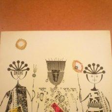 Arte: COLLAGE. JOAN-JOSEP THARRATS. FELICITACIÓN DE NAVIDAD. Lote 123533955