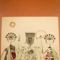Arte: COLLAGE. JOAN-JOSEP THARRATS. FELICITACIÓN DE NAVIDAD. Lote 123536751