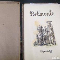 Arte: INCREIBLE CARPETA DIBUJOS EDICION LIMITADA MIGUEL OURVANTZOFF BELMONTE. Lote 123765199