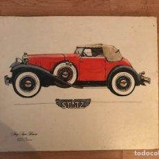 Arte: STUTZ BEARCAT 1931 DIBUJO. Lote 123817188