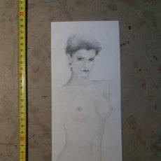Arte: DESNUDO DIBUJO LAPIZ BERENGUER LÓPEZ 1994. Lote 123871524