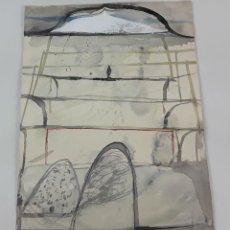 Arte: PAISAJE ABSTRACTO. TÉCNICA MIXTA SOBRE CARTULINA. ALBERT GONZALO CARBÓ. 2006.. Lote 124409051