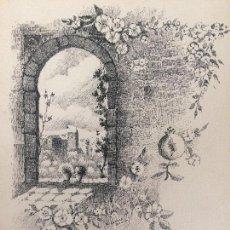 Arte: TORRE DE LA VELA. DIBUJO A PLUMILLA SOBRE CARTULINA DE RAFAEL GARCIA BONILLO. Lote 133139303
