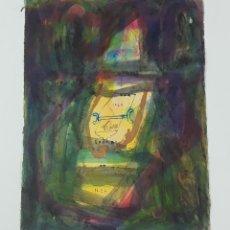 Arte: UNA SOLA LOCURA DE PIEL. TÉCNICA MIXTA SOBRE PAPEL. ALBERT GONZALO CARBÓ. 1999.. Lote 124602123