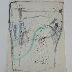 Arte: ACASO OCASO. TÉCNICA MIXTA SOBRE PAPEL. ALBERT GONZALO CARBÓ. 1999.. Lote 124604975