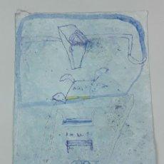 Arte: AÑIL INDIGO. TÉCNICA MIXTA SOBRE PAPEL. ALBERT GONZALO CARBÓ. 1999.. Lote 124608355