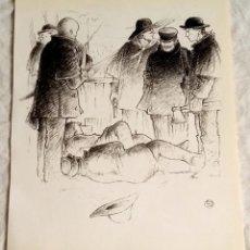 Arte: ILUSTRACIÓN - DIBUJO DE LUIS JOVER, 1989 - 20X16CM / EXTRAÍDA DE LIBRO.. Lote 124635383