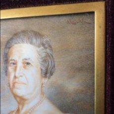 Arte: ALBERTO DE LARRUMBIDE ZAPATA BILBAO 1909 - 2005 EXCEPCIONAL MINIATURISTA -RETRATO DE DAMA -MARFIL. Lote 87512948