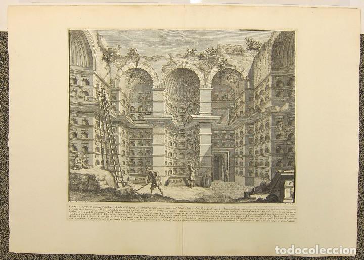 GIROLAMO ROSSI - ESTUDIO ARQUITECTÓNICO (Arte - Dibujos - Antiguos hasta el siglo XVIII)