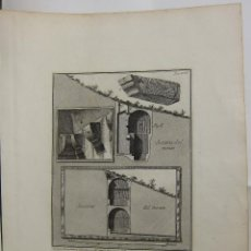 Arte: G.B. PIRANESI - ESTUDIO ARQUITECTÓNICO . Lote 125055603