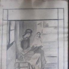 Arte: DIBUJO CARBONCILLO FIRMADO I. MAXENCHS. Lote 125216839