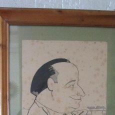Arte: DIBUJO CARICATURA JAIME BALAGUER SARRIERA? TEATRO VICTORIA BARCELONA. Lote 125217743