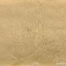 Arte: DIBUJO TINTA SOBRE PAPEL - 1963 - JOAN CLARET - FIRMADA. Lote 125299895