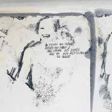 Arte: JORDI GALÍ - TÉCNICA MIXTA SOBRE PAPEL - 1965 - FIRMADA. Lote 125333855