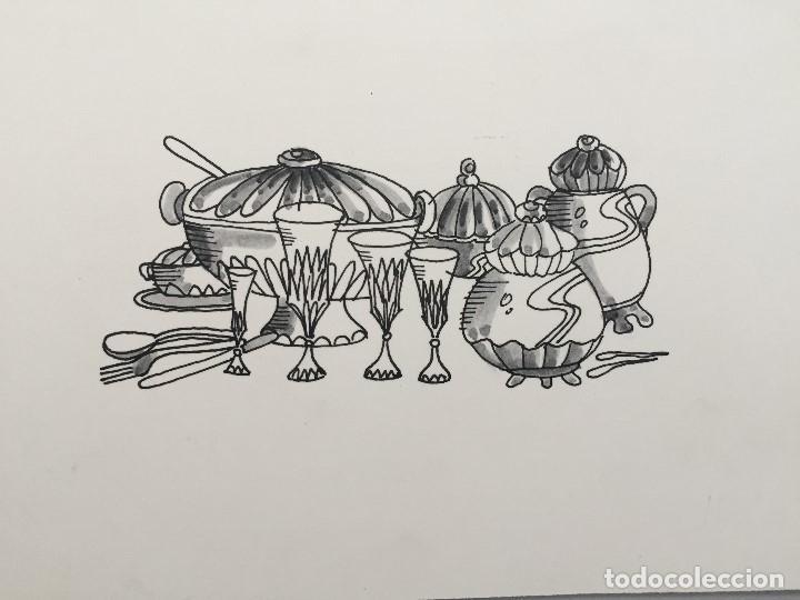 Dibujos Cocina | Dibujo Original De Boada Reproducido En Libro Comprar Dibujos