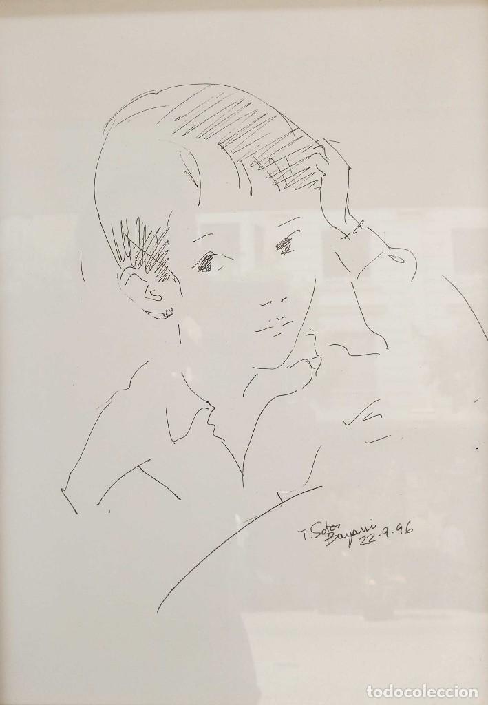 TRINIDAD SOTOS BAYARRI. NACIÓ EN 1927 EN SABADELL, BARCELONA, RESIDE EN SANTANDER, CANTABRIA (Arte - Dibujos - Contemporáneos siglo XX)