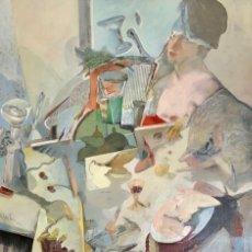Arte: MIGUEL PEÑA - TÉCNICA MIXTA SOBRE MADERA - 1982 - FIRMADA. Lote 125824803