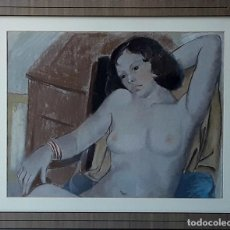 Arte: MUJER. CERA SOBRE PAPEL. LUISA GRANERO. ESPAÑA. SIGLO XX.. Lote 126025975