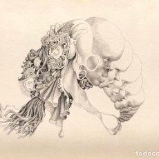 Arte: ESTEBAN SANZ - DIBUJO TINTA SOBRE PAPEL - FIRMADO. Lote 126082091