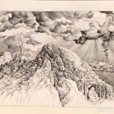 Arte: ESTEBAN SANZ - DIBUJO TINTA SOBRE PAPEL - 1973 - FIRMADO. Lote 126082231