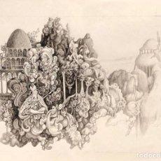 Arte: ESTEBAN SANZ - DIBUJO TINTA SOBRE PAPEL - FIRMADO. Lote 126082355