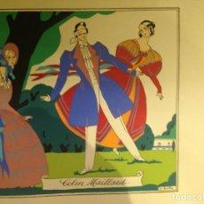 Arte: COLIN MAILLARD - GALLINETA CIEGA - LAMINA EN ACRÍLICO O SIMILAR - FIRMADO G.BAYLLI. 48 X 41 CM. Lote 126293435
