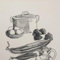 Arte: OBRA ORIGINAL DE BOADA REALIZADA EN 1970. Lote 126582495