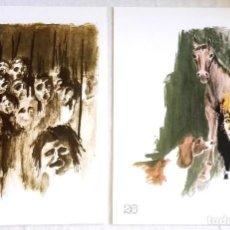 Arte: F. CRUZ DE CASTRO 1979 - ILUSTRACIONES - DIBUJOS / EXTRAÍDOS DE LIBRO - 27X19,5CM. Lote 126592259