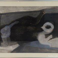 Arte: ABSTRACTO. DIBUJO AL PASTEL SOBRE PAPEL. A. CORTADA. PARIS. 1970. . Lote 126640663