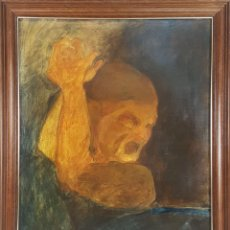 Arte: ABSTRACTO. CASEÍNA SOBRE PAPEL ADHERIDO A LIENZO. A. CORTADA. PARIS. 1971.. Lote 126647903