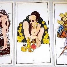 Arte: ILUSTRACIONES - DIBUJOS DE FRANCO TESTA 1988 - EXTRAÍDO DE LIBRO - 21,5X12CM. Lote 126652539