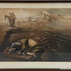 Arte: EL SUEÑO. DIBUJO AL PASTEL SOBRE PAPEL. FIRMADO Y DEDICADO. A. CORTADA. 1984.. Lote 126652915