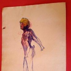 Arte: DESNUDO - ACUARELA - 1930'S - AUTOR DESCONOCIDO . Lote 126878019
