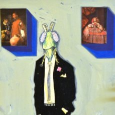 Arte: MANUEL FERNÁNDEZ - MANFER - ACRÍLICO Y COLLAGE SOBRE CARTÓN. Lote 116951499